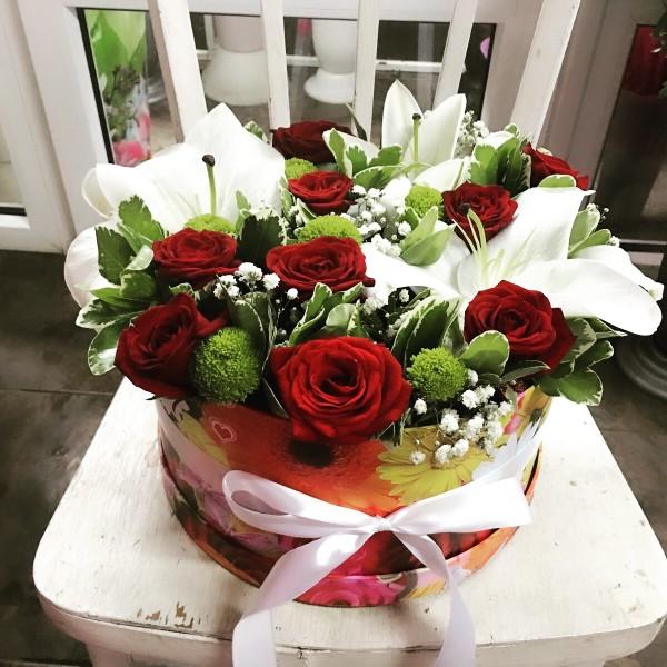 цветы в коробке2