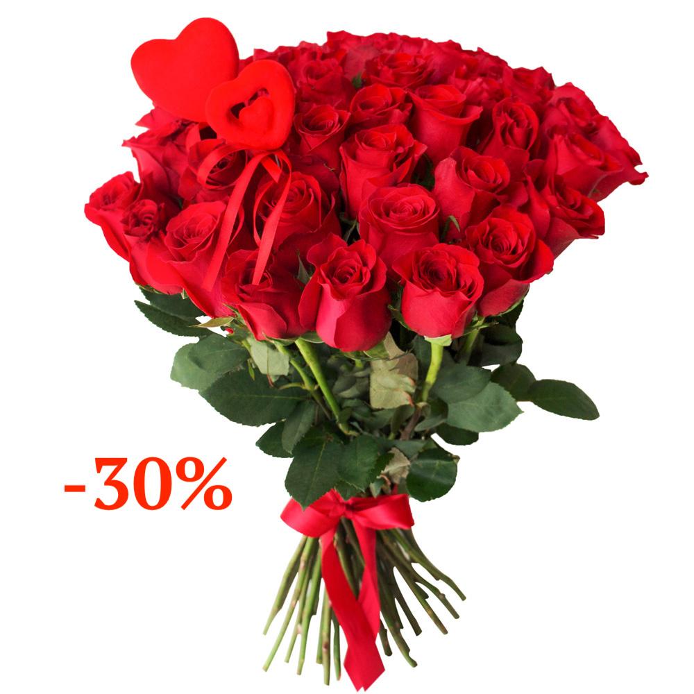 Букет из 25 роз (70 см) Голландия