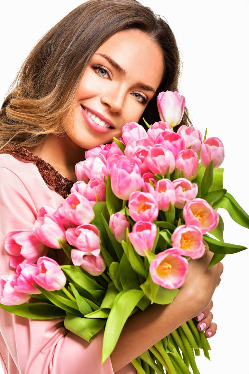 Открытки, открытки женщины с цветами