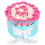 розы в коробке заказать в астане
