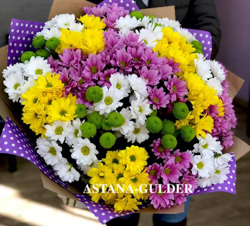 купить букет хризантем онлайн в астане АSTANA-GULDER