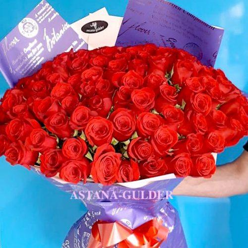 101 роза с доставкой в Астане