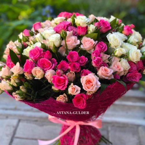 букет кустовых роз в нур-султане