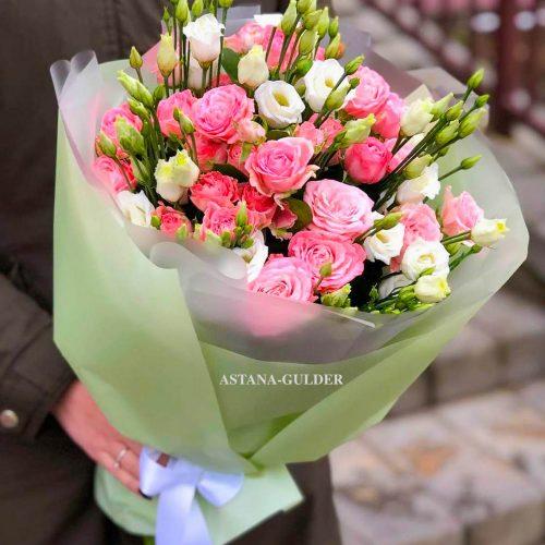 кустовые розы доставка в нур-Султане